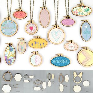 Art Works Sewing Cross Stitch Bag Clothes Earring Embroidery Frame Embroidery Hoop Ring 15 Types DIY Crafts Tool