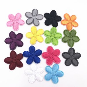 1 color cartoon accessories 5 pieces of flower icon inlaid iron sewing clothing decoration embroidered badge sticker