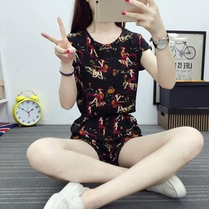 Liva Girl Woman Suit Female Summer 2019 Summer Wear Loose Casual Fashion Beach Shorts Short sleeved Shirt Two pieces