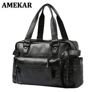Портфоны мужские портфель мессенджер сумки большой емкости сумка компьютерный ноутбук многофункциональный бизнес высокое качество кожи