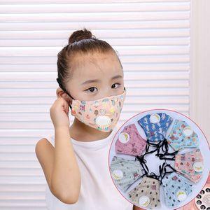 Com FA Mask DWC3127 Filtro Resumido dos desenhos animados Máscaras lavável Máscara de carbono Crianças de algodão protetor FA Filtro de filtro à prova de poeira PKAIT