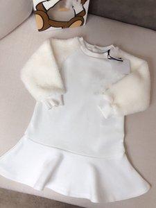 2021 Yeni Lüks Tasarım Uzun Kollu Kazak Örme Yürüyor Casual Sıcak Elbise Şifon Bebek Kız Kış Elbise Ile Ücretsiz Kargo