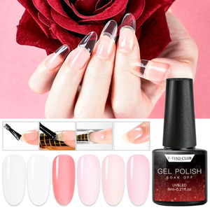 Mtssii 6ml Quick Extension Gel Polish Clear Pink Nail Tips Design UV Gel Nail Art Poly Extension Polish Manicure Tools