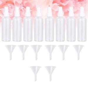 1 Conjunto de botellas de spray Pasador Portable Portátil Portátil Vacío Atomizador Botellas de aerosol con 8pcs Funnels1