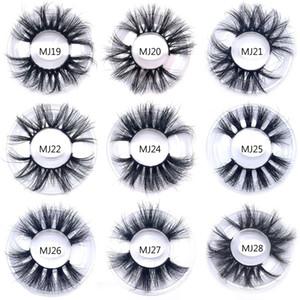 New Styles 25mm long eyeLash 3d Mink Lashes in Bulk Natural Long Mink Lashes False Eyelash free shipping Wholsale Prices