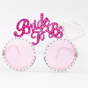Glasses Mariage Bride To Be Pink Diamond Sunglasses For Wedding Bridal Shower Hen Party Decoration Photo Props