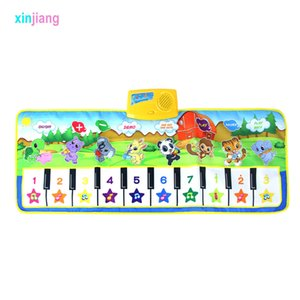 100 X Baby Mat Musical Carpet Music Mat Mat Piano Mat 8 Tono de instrumento Tono Early Educational Juguetes para niños Piano Toys Regalo} LJ200922