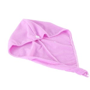 Dry Hair Towel Microfiber Dry Hair Caps Soft Comfortable Woman Bath Caps Absortion Individually Wrap Quickly Shower Cap VTKY2155