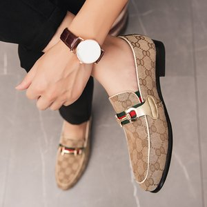 Men's Casual Leather Luxury Loafers Men Moccasins Designer Oxfords Flat Handmade Breathable Walking Shoes male