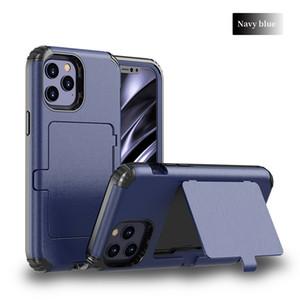 Per Iphone 12 Mini 11 Pro Max X XS MAX XR 6 7 8 Inoltre Tripla Protezione Built In Case Cover specchio design Phone Card con Kickstand Funtion