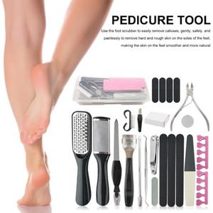 23 шт. Профессиональная уход на ноге Kit Pedicure Tools Набор ног из нержавеющей стали Phot Rasp Dead Skin Comever Чистый набор для ухода
