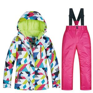 New Children's Ski Suit Winter Children Windproof Waterproof Super Warm Colorful Snow Ski Jackets and Pants Girls Winter Jacket 201203