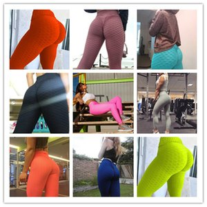 Sport Leggings Running Yoga Fitness Pants Fashion Sexy Sportswear Skinny Trousers Ladies Jacquard Push Up Tight Pants Clothing S-3XL F92901