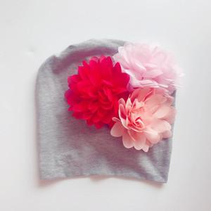 Double-deck India Hat Spelling Color Flower Hats Newborn Tire Cap Pure Cotton August