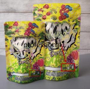 Mylar çanta RUSH KUSH Mylar çanta 3.5g, paketleme veya 7 g tazelik, çocukların açamayacağı çiçekler için iki boyutlu Kush Rush egzotikler torbalar tekrar kapatılabilir fermuar sızdırmazlık