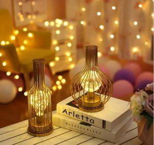 Led iron creative retro ins wine bottle bottle shape net red decorative lamp bar desk study pendulum style desk lamp