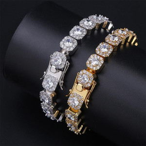 Hip Hop Jewelry Mens Bracelets Diamond Tennis Bracelet Bling Bangle Iced Out Chains Charms Rapper Fashion Jewelry