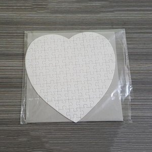 Sublimation product DIY Heart love Shape Puzzle Transfer Printing Blank Consumables Child Toys Gifts