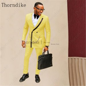 Thorndike New Coat Pants Style Fashion Single Lapel Men's Dress Suits for Prom Party Casual Street Wear Dinner Men Tuxedo 2 Pcs