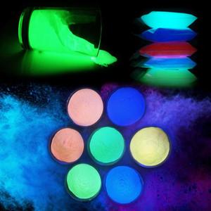10 30g Fluorescent Rare Earth Luminous 14 Colors Glowing In The Dark Pigment DIY Nail Art Decoration Neon Phosphor