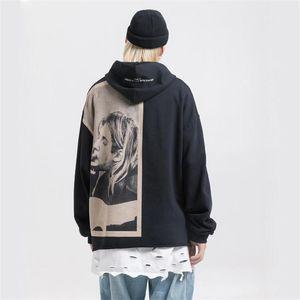 Nagri Kurt Cobain Imprimir Tops Hoodies Homens Hip Hop Casual Punk Rock pulôver moletom com capuz Streetwear 2020 Hoodie Moda