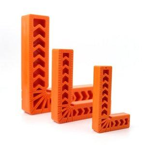 2pcs de la madera en forma de L Regla 3/4/6 pulg 90 Grado de plástico en forma de L de la esquina derecha Escuadra de Sujeción Pinzas ángulo Herramientas