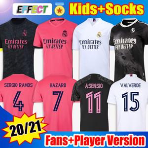 Real Madrid Soccer Jerseys Futbol Forması 20 21 TEHLIKE MODRIC REINIE Camiseta 2020 2021 BALE ISCO EA Spor Dördüncü Formalar RODRYGO Futbol Gömlek çocuklar Çorap