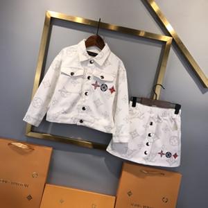 top quality kids clothing sets kids clothes girls tops jacket sweatshirt sweaters skirt dress 2pcs sets Q8XP