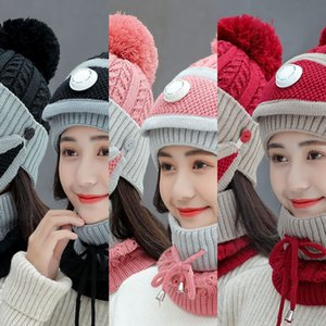 chapéu de malha Beanie bebê sapo Headpiece malha Hat Mulheres Outono Inverno doce bonito Quente mão-coreano de design de luxo Student garotas Alta Qualidade oW2i