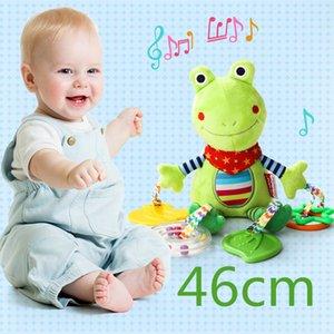 Baby pelúcia chocalhos cartoon urso vaca animal mobiles brinquedos criança criança pendurado móvel casas de brinquedos recém-nascidos com Teether lj201114