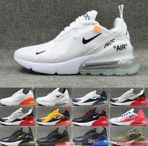 270 Homens Mulheres Running Shoes Air Bred 27c Matiz Triplo Preto da Universidade Vermelho Branco Max Sports Mens 270S Formadores Sneakers