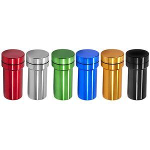 Алюминиевая шлифовальная машина с бутылкой для хранения контейнера 2 в 1 Многофункциональные металлические шлифовальные машины Грандиозащитный водонепроницаемый stash Jar DHL бесплатно