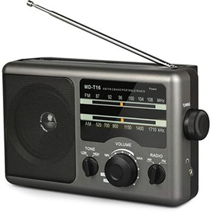 AM FM Portable Radio Battery Operated Radio By 4X D Cell Batteries or AC Power Transistor with and Big Speaker