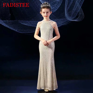 FADISTEE Sequin Girl dress Flower Girl Dresses vestidos lace Baby Girl Infant Dress Kids Formal Wear girls dress Floor-Length