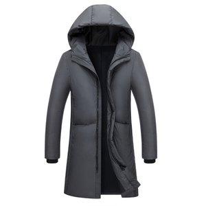 Nuovo lungo in grado di sopportare - 20 Degrees Giacca inverno degli uomini Big reale collo di pelliccia con cappuccio anatra Down Jacket Big Size 2XL 3XL 7805 201104