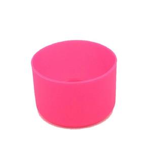 Coasters de borracha universais para 12 16 18 21 24 onças frascos antiderrapante de silicone Inferior Coberturas de Proteção Esticável Rubber Cup mangas DHD2274
