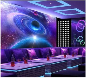 Custom photo wallpaper 3d mural wallpapers for living room Beautiful starry universe planet tooling background wall papers home decoration