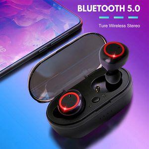 A2 TWS 5.0 Écouteurs Casque Bluetooth sans fil Écouto-Tableau Stereo Touch Steher Casquettes Écouteurs de chargement PowerBank