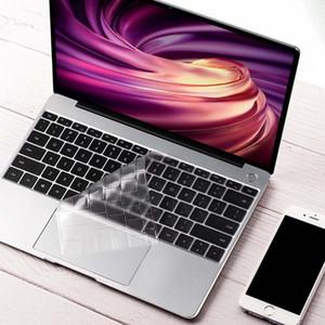 Huawei Matebook 13 Intel / Matebook 13 AMD RYZEN Tüm Serisi Silikon Klavye Kapak Kılıfı Şeffaf Clear Protter Film
