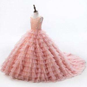 Baby Peach Pageant Dresses For Girls Glitz Flower Girl Dresses Sleeveless Ball Gowns Girls Communion Dress 2021 Serene Hill
