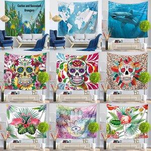 37 стилей стены висит гобелен этнический стиль фламинго карта Богемская мандала бросить одеяло скатерть гобелены пляжное полотенце BWD4587