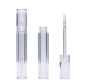 Lip Gloss Tubes Empty 5ML Lipgloss Tubes Round Transparent Lip Gloss Tubes With Wand Empty Clear Lipstick Lip Glaze Tube Wholesale