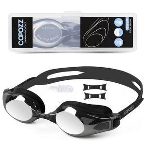 Copozz Goggles Myopia Anti Fog Uv Protecion Support 0 -1.5 to -5 Swimming Glasses Diopter Fit for Adult Men Women