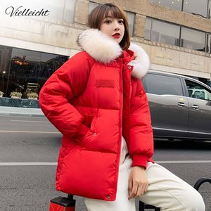 Vielleicht 2019 Fashion Jackets Coat Short Fur Hooded Thicken Warm Down Cotton Padded Winter Jacket Women