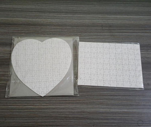 HOT 2021 Sublimation Blank Heart Puzzles DIY Puzzle Heart love Shape Puzzle Hot Transfer Printing Blank Consumables Child Toys Gifts