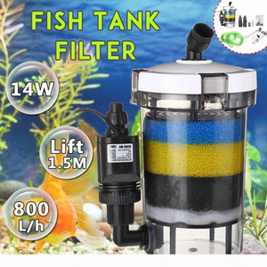Aquarium Filter Fish Tank Filter Ultra-quiet External Aquarium Filter Bucket 220-240V EW-604 EW-604 B Aquarium Sponge Accessory Y200922
