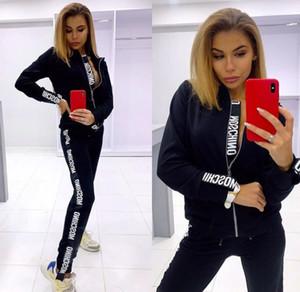 Frauen 2pcs Designer Anzüge Kleidung Mode Marke Letter Print Frauen Trainingsanzüge mit Kapuze langärmelige Hosen-Sport-Sets große Größe S-2XL