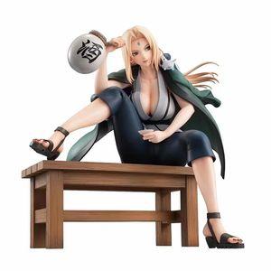 Çocuklar 16cm için Tsunade PVC Action Figure Koleksiyon Model Oyuncaklar Hediyeler İçme Tsunade heykelcik Anime Naruto Şekil GEM