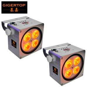 TIPTOP 2 х беспроводной DmX Uplight 4x18W Par Can Battery Power LED DJ Аплайты IP20 Водонепроницаемый LED DJ Par Outdoor Weddings Party Club