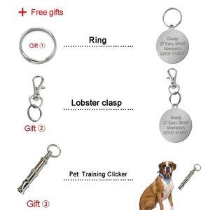 Özelleştirilmiş Köpek KIMLIK Tag PET Kişiselleştirilmiş Etiketler Kazınmış Yuvarlak Paw Pet Namplate Kolye Köpekler için Kediler Ücretsiz Hediye Bbygfu ile